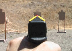 Rear view of Guardian Sight on a Glock 17